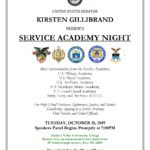 2019 Capital Region Service Academy Night Flyer